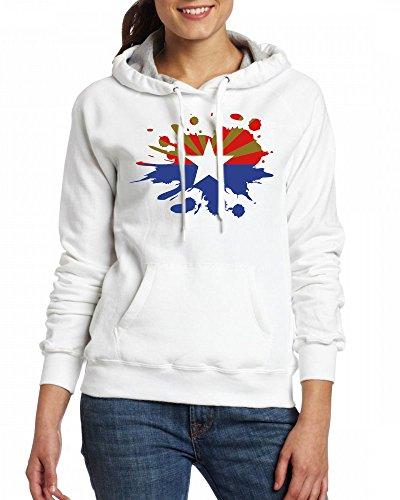 Arizona Flag Womens Hoodie Fleece Custom Sweartshirts white