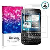 Ycloud [3 Pack] Panzerglas Bildschirmschutzfolie für BlackBerry Classic (Q20), Hartglas Staubdichter, 9H kratzfester Bildschirmschutz Protector für BlackBerry Classic (Q20)