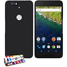Muzzano F2655585 - Funda para Google / Huawei Nexus 6P, color negro