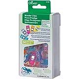 Clover 3183 Stoffklammern 50-er Pack, farbig Sortiert
