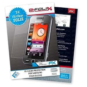 atFoliX FX-Clear Displayschutzfolie für Samsung Star S5230 (3 Stück)