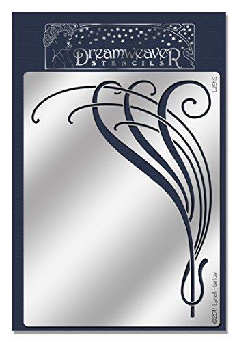 Unbekannt Stampendous Dreamweaver Metall Schablone 7.75-inch X 12,7cm Jugendstil Flourish, Acryl,...