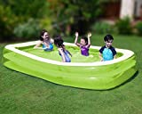 SUNMER Large Inflatable Family Paddling Pool | For Kids And Adults | 262x175x50cm