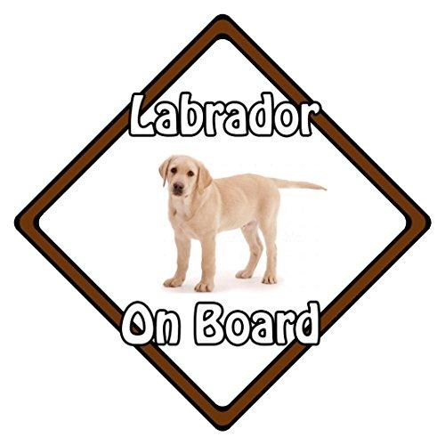 Dog on Board Panneau Sécurité Auto ? Blonde Labrador on Board