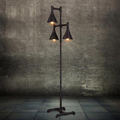 Tuyau de fer Lampadaire LOFT style industriel lampadaire Vintage fer forgé lampadaire décorations en métal artisanat L50 * W33 * H175cm