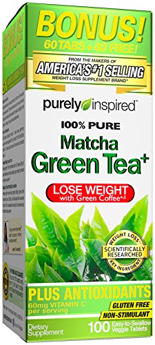 Purely Inspired 100% Pure Matcha Green Tea, 100 Count by Purely Inspired