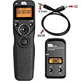 Pixel® TW-283/S2 LCD Timer Shutter Kabellose Fernauslöser für Sony Micro Single Digitalkamera A7 A7 II A7R A7R II HX300