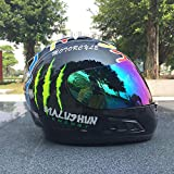 Motorradhelm Männer Und Frauen Integralhelm Bunte Klaue Motorauto Pedal Winter Warme Full Covered...