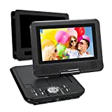 7' HD Tragbarer DVD Player 5 Stunden Akku Kopfstütze Monitor NAVISKAUTO Drehbar Display Halterung SD/USB AV IN/OUT (PD0701)