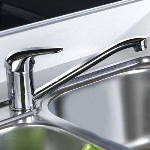 Generic yanhonguk 150730-1866 1yh3613yh robinets en laiton chromé avec mitigeur simple à levier simple Bec ivel Le bec solide pivotant Mitigeur d'évier de cuisine en laiton chromé