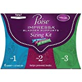 Poise Impressa Incontinence Bladder Supports Sizing Kit Sizes 1 2 3 (6 Count) - (Pack Of 4)