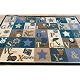 BuyElegant Alphabets Anti Slip Area Rug/Carpet Super Absorbent 100% Polyester and Eco Friendly Latex Back Easily Cleaned 150 x 80 cms, for Bedrooms, Drawing Rooms, Lounges, Office Ideal for Gifts