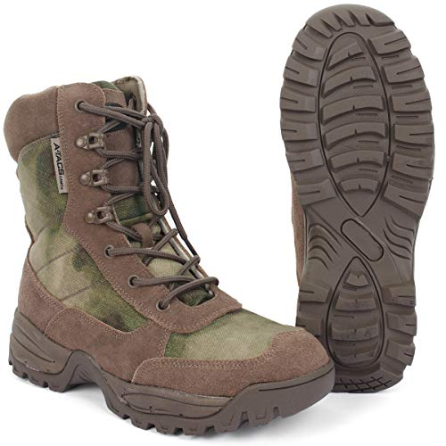 Mil-Tec Tactical Boot Zipper A-TACS FG® Gr.8 Atac 8
