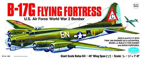 GUILLOW's B-17G Flying Fortress 2002 Powered Balsa Flying Model Kit (Kit B Model 17)