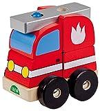 Lena 43201 - Holzsteckfahrzeug Feuerwehr