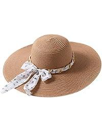 c26ad66d92b5e Amazon.es  pamela blanca - Pamelas   Sombreros y gorras  Ropa