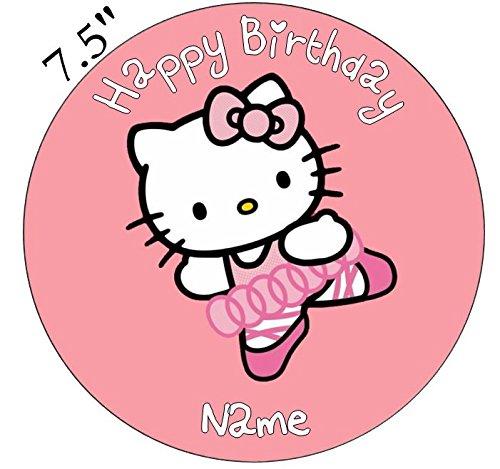 lo Kitty Ballerina Essbarer Zuckerguss Kuchen Topper 19,1cm vorgeschnittenen - Rund ()