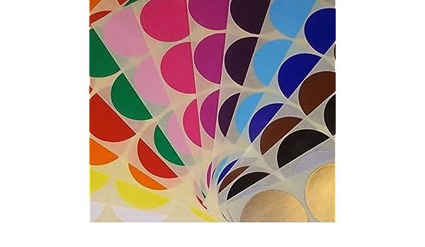 /assortiti//Multicolore pacchi di codice colore circolare adesivi//etichette adesive colorate//puntini Cerchi 20/mm/