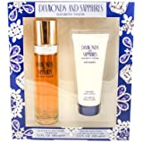 Diamonds & Sapphires For Women By Elizabeth Taylor 2 Pc. Gift Set ( Eau De Toilette Spray 3.3 Oz + Body Lotion...