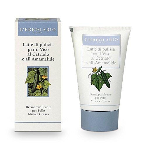L'Erbolario Hamamelis und Gurken Reinigungsmilch, 1er Pack (1 x 125 ml)