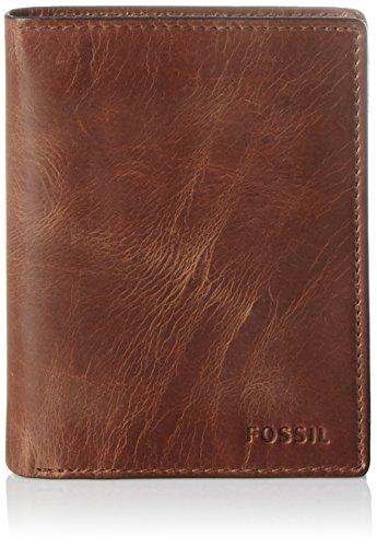 Fossil Herren Derrick Geldbörse, Braun (Brown) 2.5x12.7x7.6 cm