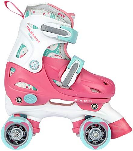 Speelgoed 52QNRWB27-30 Rolschaats Roze, 27-30 Rollerskates Junior Verstellbar, Rosa/Weiß/Hellblau