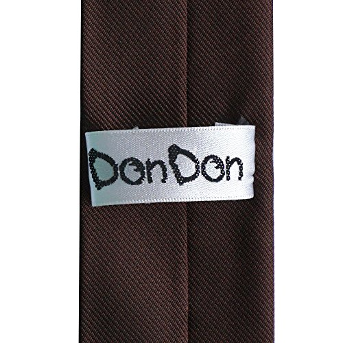 DonDon Cravate 5 cm - fini à la main et plusieurs couleurs Marron