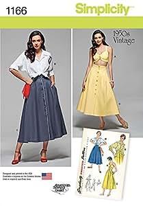 Simplicity Sewing Pattern 1166 1950 pour 's Style Vintage avec haut, tunique & jupe