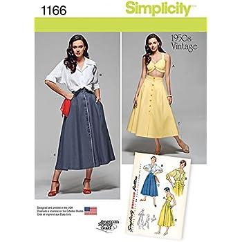 Simplicity 1278 Größe H5 Misses \'Vintage 1950 \'s Blusen ...