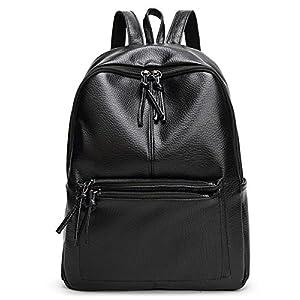 51tUB%2BGZrsL. SS300  - TIBES Pequeña mochila impermeable bolso Mochila cuero PU mujer mochila mujer mochilas B Vino rojo