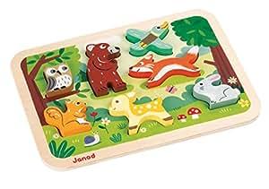Janod 4507023 Shape Puzzle 'Forest Animals'