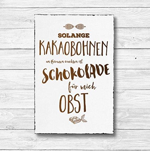 an Bäumen wachsen - Dekoschild Wandschild Holz Deko Wand Schild 20x30cm Holzdeko Holzbild Geschenk Mitbringsel Geburtstag ()