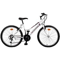 """Orbita ALFA 26"""" - Bicicleta BTT de montaña para mujer, 18 velocidades"""