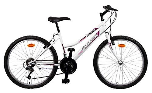 Orbita ALFA 26″ – Bicicleta BTT de montaña para mujer, 18 velocidades, cuadro acero, frenos V-Brake