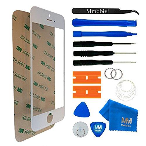 MMOBIEL Front Glas Reparatur Set kompatibel mit iPhone 5 5C 5S SE Series (Weiß) Display mit Werkzeug-Set - Iphone Ersatz 5s Glas