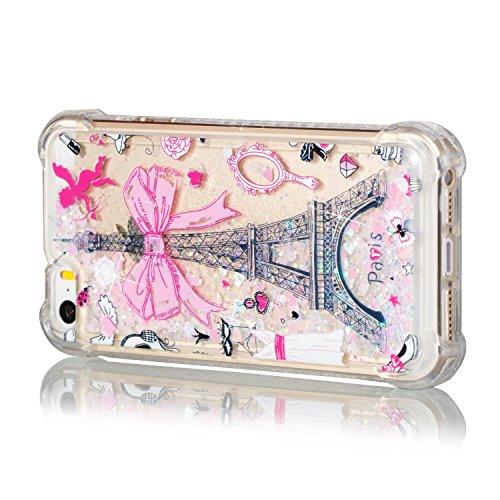 e812619cafa Funda iPhone 5S,Funda iPhone 5,TOUCASA Glitter Brillante Liquida  Transparente TPU Silicona, ...