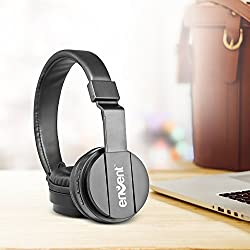 (CERTIFIED REFURBISHED) Envent LiveFun 560 Stereo Bluetooth Headphone With Mic, Foldable On-Ear Wireless Headphones (Black)
