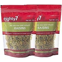 Eighty7 Raisins Kishmish Pack of 2, 500g