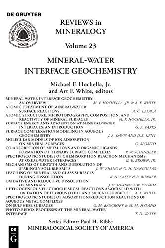 Preisvergleich Produktbild Mineral-Water Interface Geochemistry (Reviews in Mineralogy & Geochemistry,  Band 23)