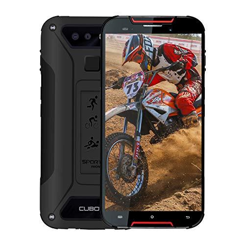 CUBOT Quest Lite Télephone Portable Incassable Débloqué 4G, 2019 Smartphone Pas Cher Résistant IP68 Etanche Antichoc Mobile 3+32Go 2.0GHz Android 9 Dual Nano SIM 5,0 Pouce Type-C GPS Compas NFC Rouge