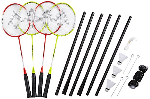 Tecnopro Speed 200 Beach-Badminton-Set, Gelb, 3 1/2