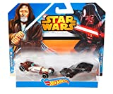 Hot Wheels Star Wars Character Toy Cars 2 Pack Darth Vader VS Obi-Wan Kenobi