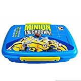 Pawan Plastic Blue Me and Minions Lunch Box with Clip Lock Feature -
