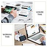 Desk Supplies Organiser, Cute Elephant Pen Pot Pencil Holder with Cell Phone Stand Tablet Desk Bracket Compatible iPhone Smartphone, Multifunctional Office Desk Tidy Stationery Organiser Box