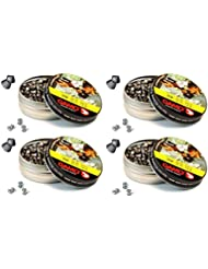 4 latas de 250 perdigones Gamo Magnum de Copa-Punta 4,5mm. Modelo 320224