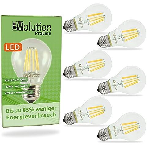 Evolution® E27 6W 700lm | Filament LED incandescent bulbs |