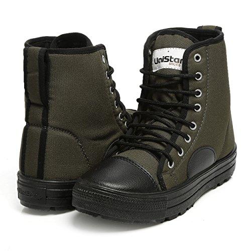 Unistar Men's Green Boots-8 UK/India (42 EU) (E-1001)