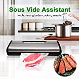 [Aktualisiert] Vakuumierer, Crenova VS100S - Vakuumiergerät für Nahrungsmittel, manuelle Pausenfunktion für brüchige Lebensmittel, +10 gratis Profi-Folienbeutel - 5