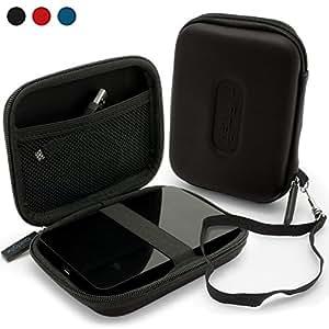 "iGadgitz Black EVA Hard Case Cover for 2.5"" USB Portable External Hard Drives (Case Internal Dimensions: 11.3cm x 8.3cm x 1.8cm)"