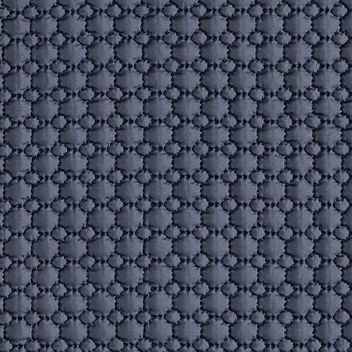 Fabulous Fabrics Steppstoff Große & Kleine Kreise - Marineblau - Meterware ab 0,5m - zum Nähen von Jacken, Weste und Futter